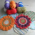 Diy kit crochet potholder o manique au crochet/ diy kit agarrador de ganchillo