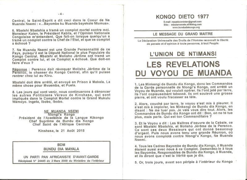 LES REVELATIONS DU VOYOU DE MUANDA a
