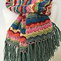 L'echarpe couleurs et franges....