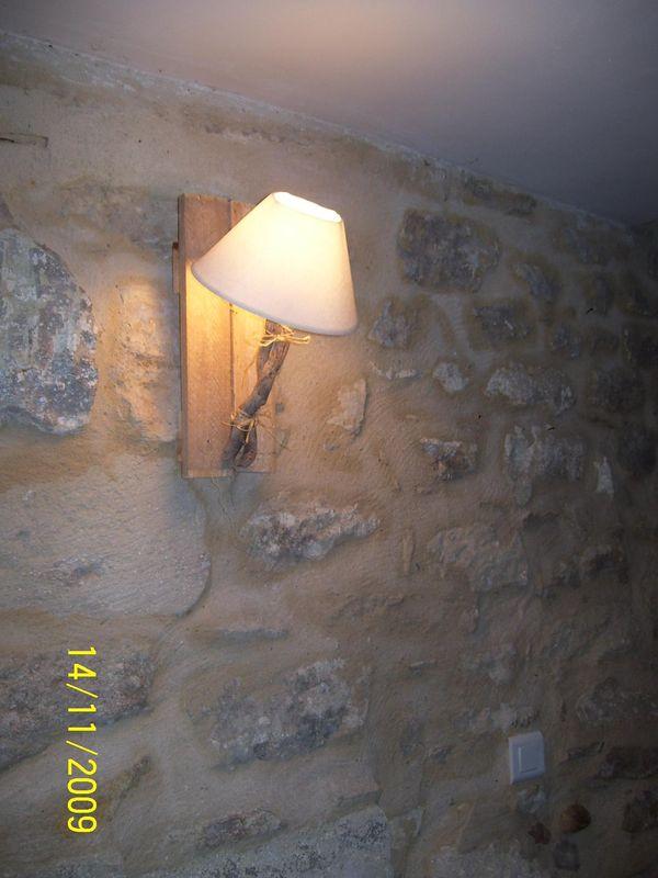 applique bois flott photo de brico brac le mas de l 39 ange. Black Bedroom Furniture Sets. Home Design Ideas