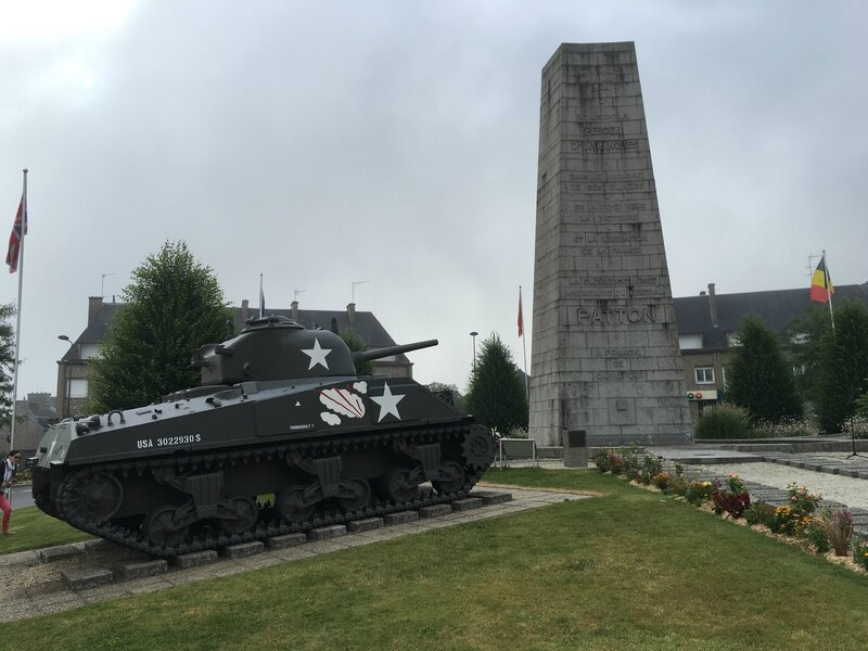 place Patton Avranches sherman