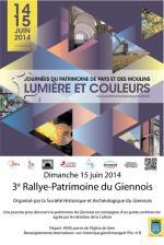 JPPM 2015, affiche du 3e Rallye-Patrimoine du Giennois.