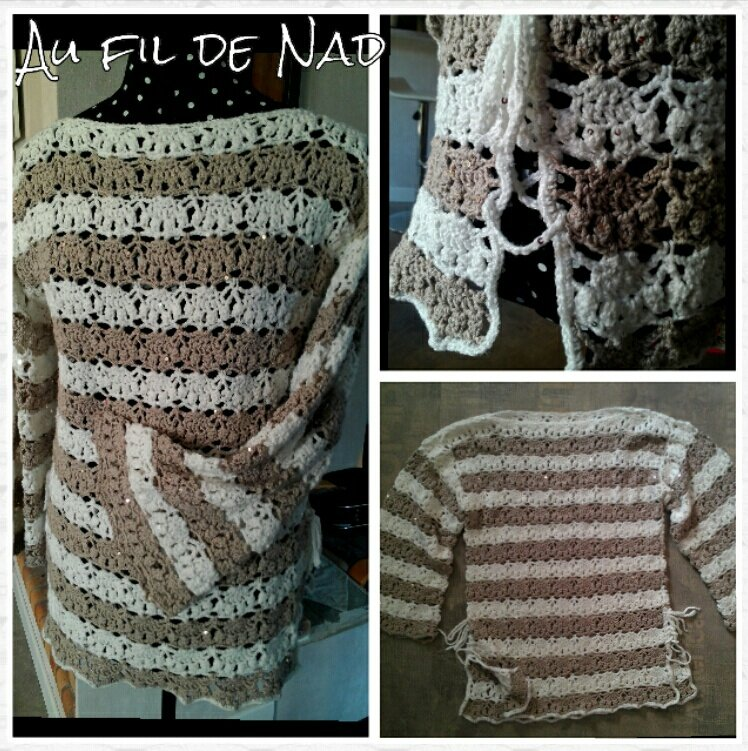 pull tunique au crochet