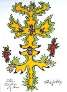 LAMBERT Totem florilège des sens 1997 28,7 x 21