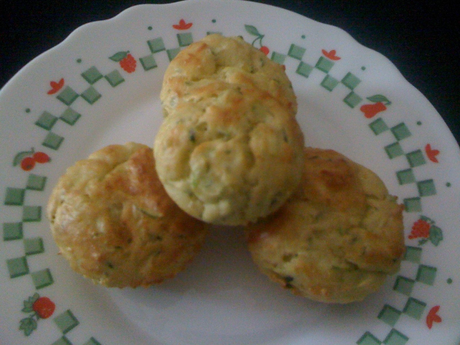 muffins courgettes / gruyere