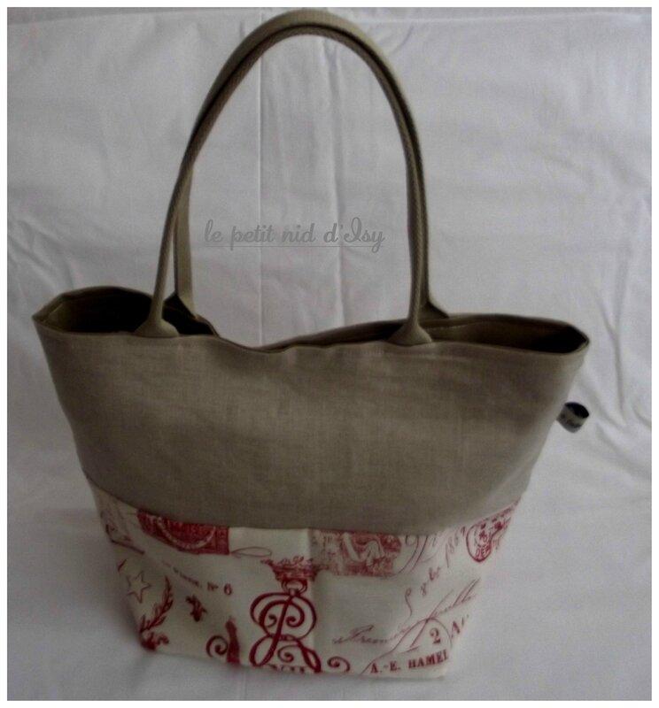 sac lin rouge