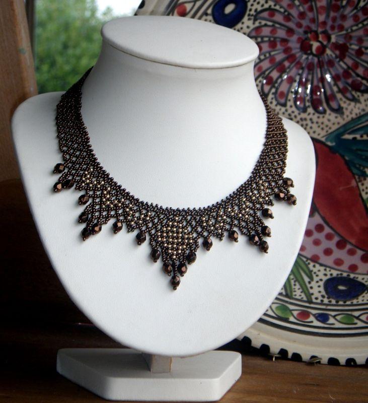 collier perle rocaille schema