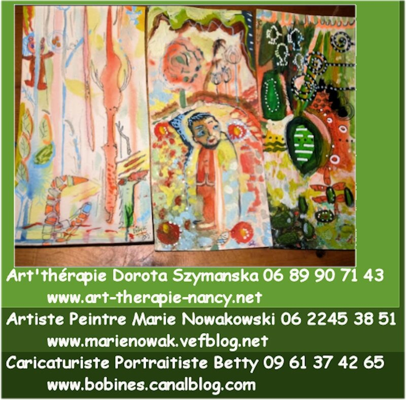 Art therapie therapeute Peintre Artiste Caricaturiste NANCY 54 Lorraine