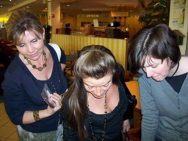 Claudia, Peetje, Frédérique