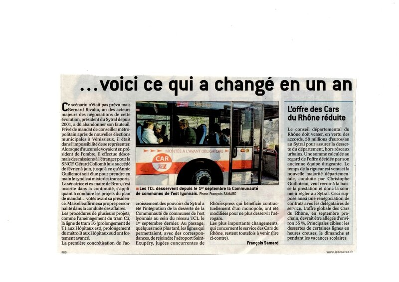 article Progrès 26 janv 2016 Sytral 2