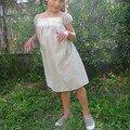 Antonine en cotonade+liberty fairy flowers pour Matilda