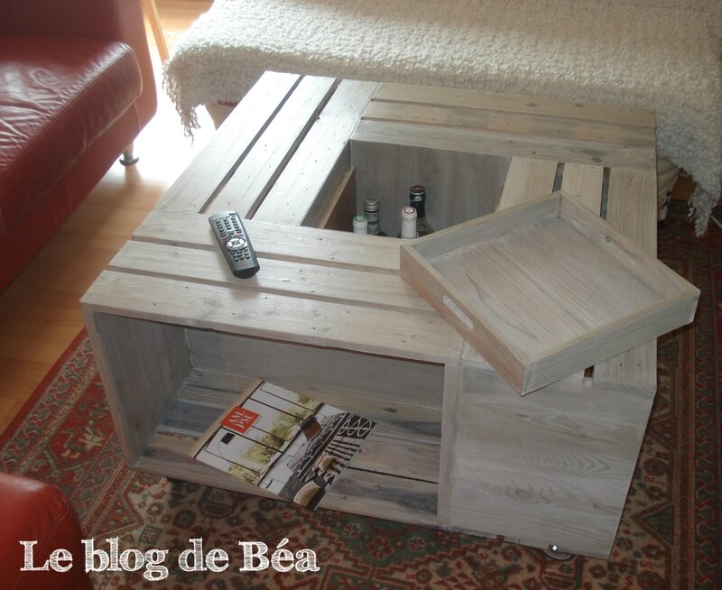 Table basse bar tutoriel gratuit diy tutolibre - Table de salon en palette ...