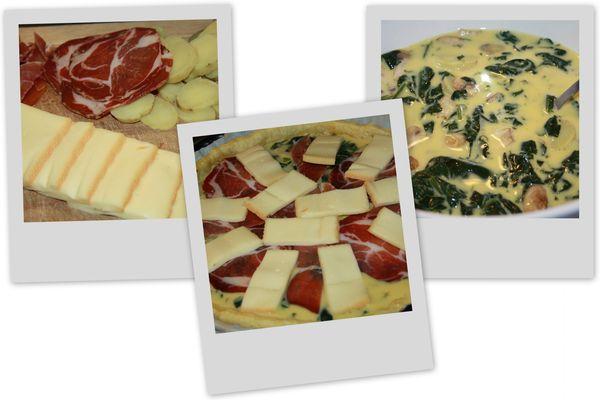 Tarte épinards raclette