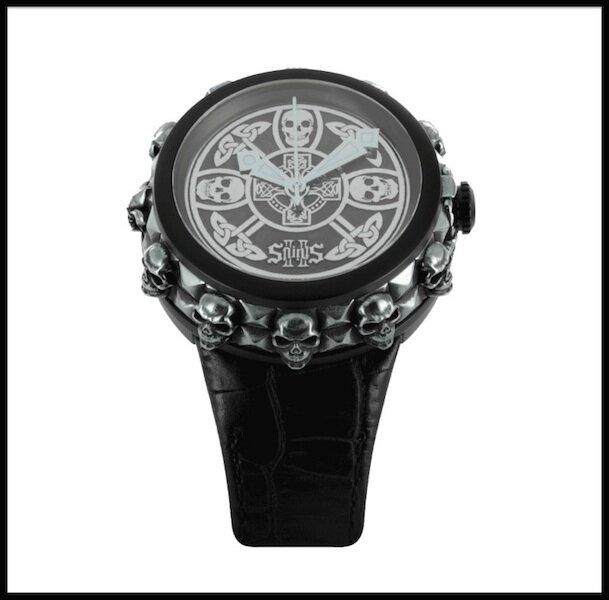 2 saints rock & skulls montre argent