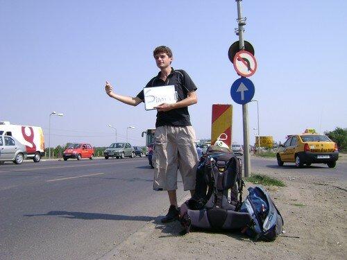 Roumanie, Depart de Bucharest, en stop