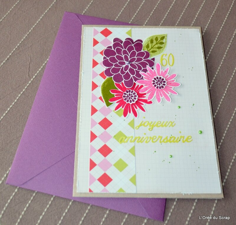 carte 60 ans stampin up