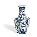 Tall baluster porcelain vase, qianlong mark and period
