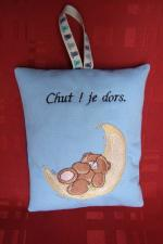 Coussinet machine nounours dort