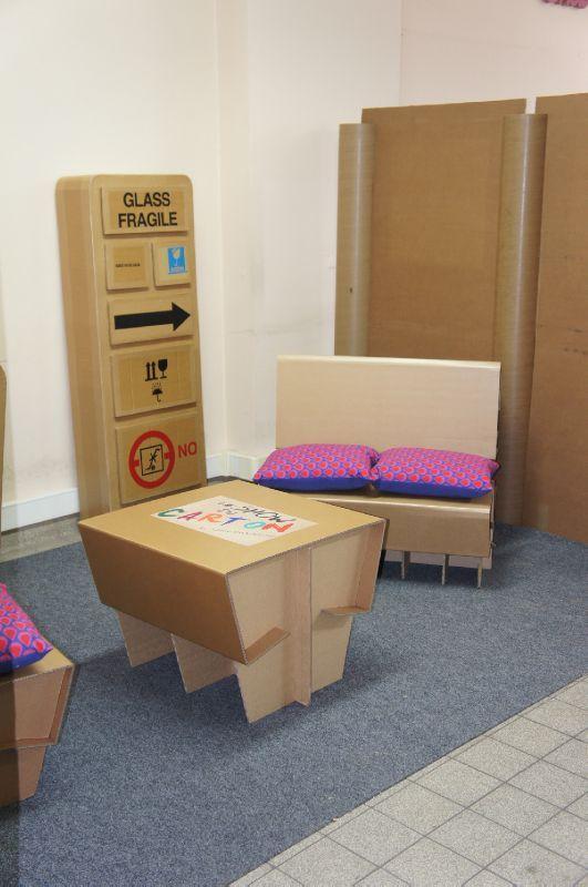 Meuble en carton d montable papelao design - Meuble carton design ...