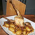 Poulet poché et rôti en cocotte au four