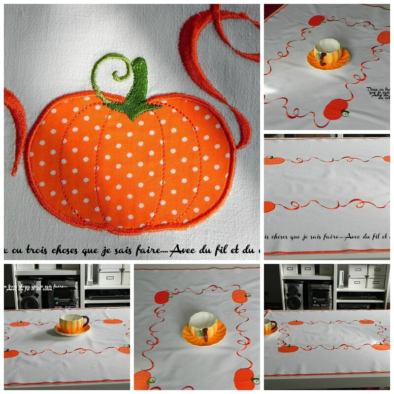 collage nappe halloween