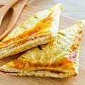 Feuilletés d'andouille de vire à la crème de camembert et aux pommes