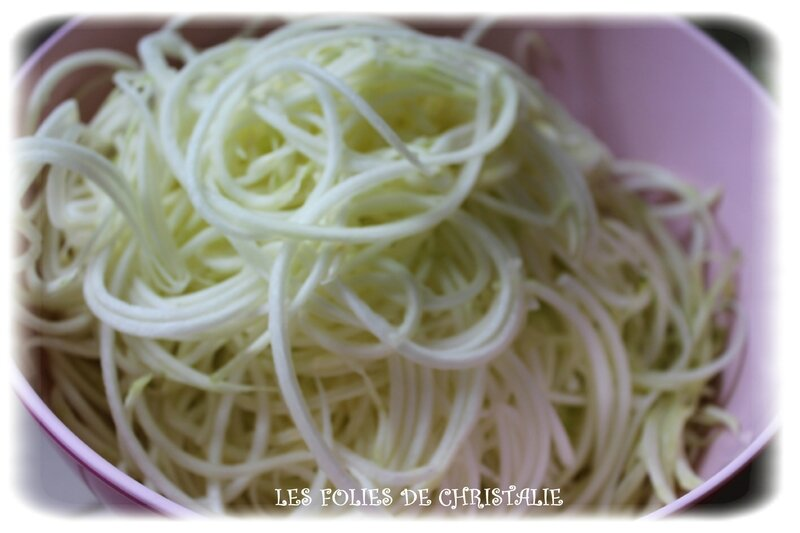 Spaghettis courgettes 2