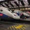 TGV Duplex DAYSE 705, et Réseau-Duplex 613, Paris gare de Lyon.