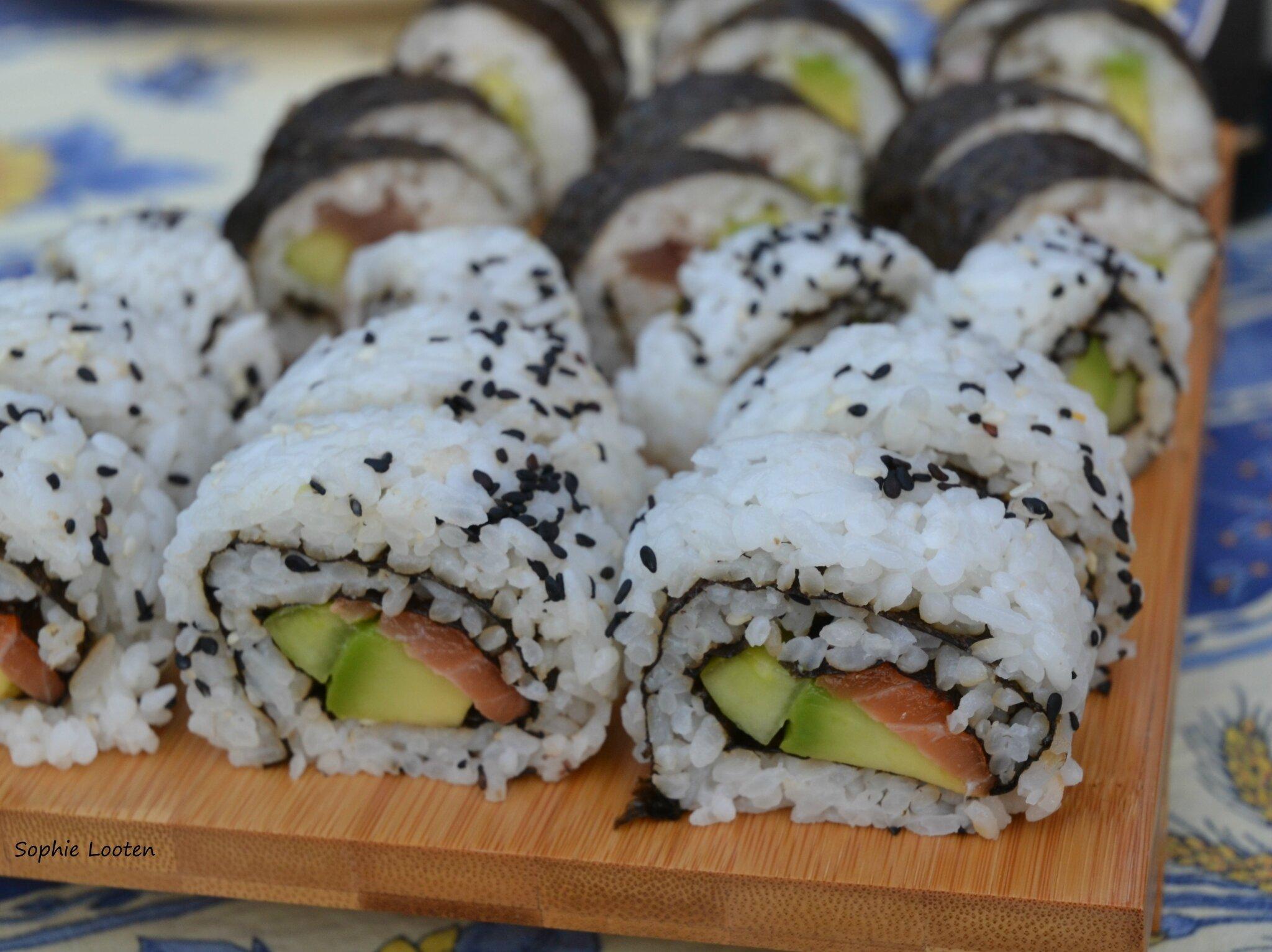 Makis de thon et saumon