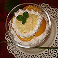 Pèche melba ( crème glacé a la pèche)