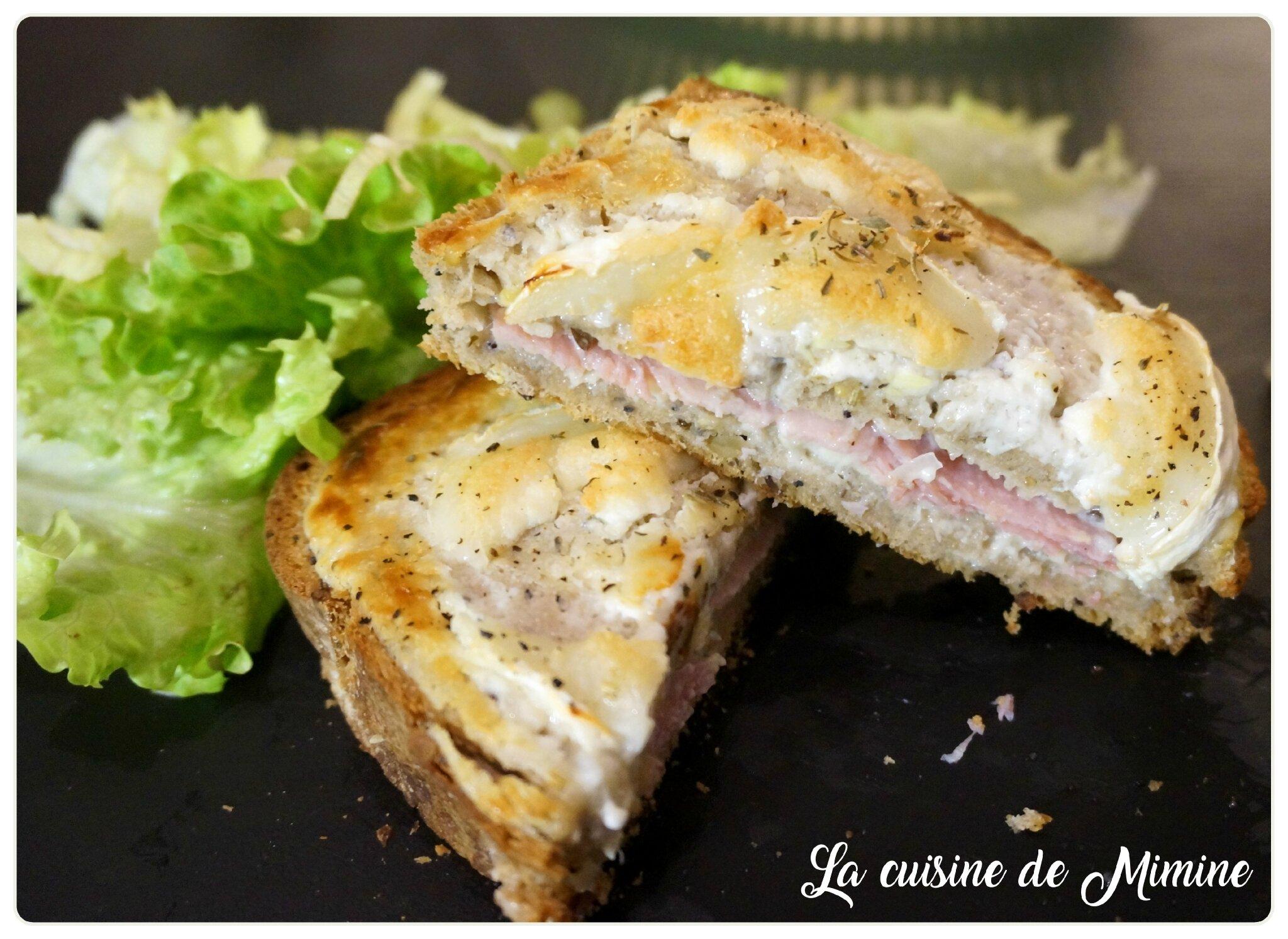 Croques Monsieur Chevre Echalote La Cuisine De Mimine