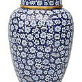 A very fine cloisonn vase with cover, China, around 1900 (Qing dynasty 1644-1911)