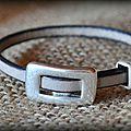 Le cuir version bracelet et boucles d'oreilles également...