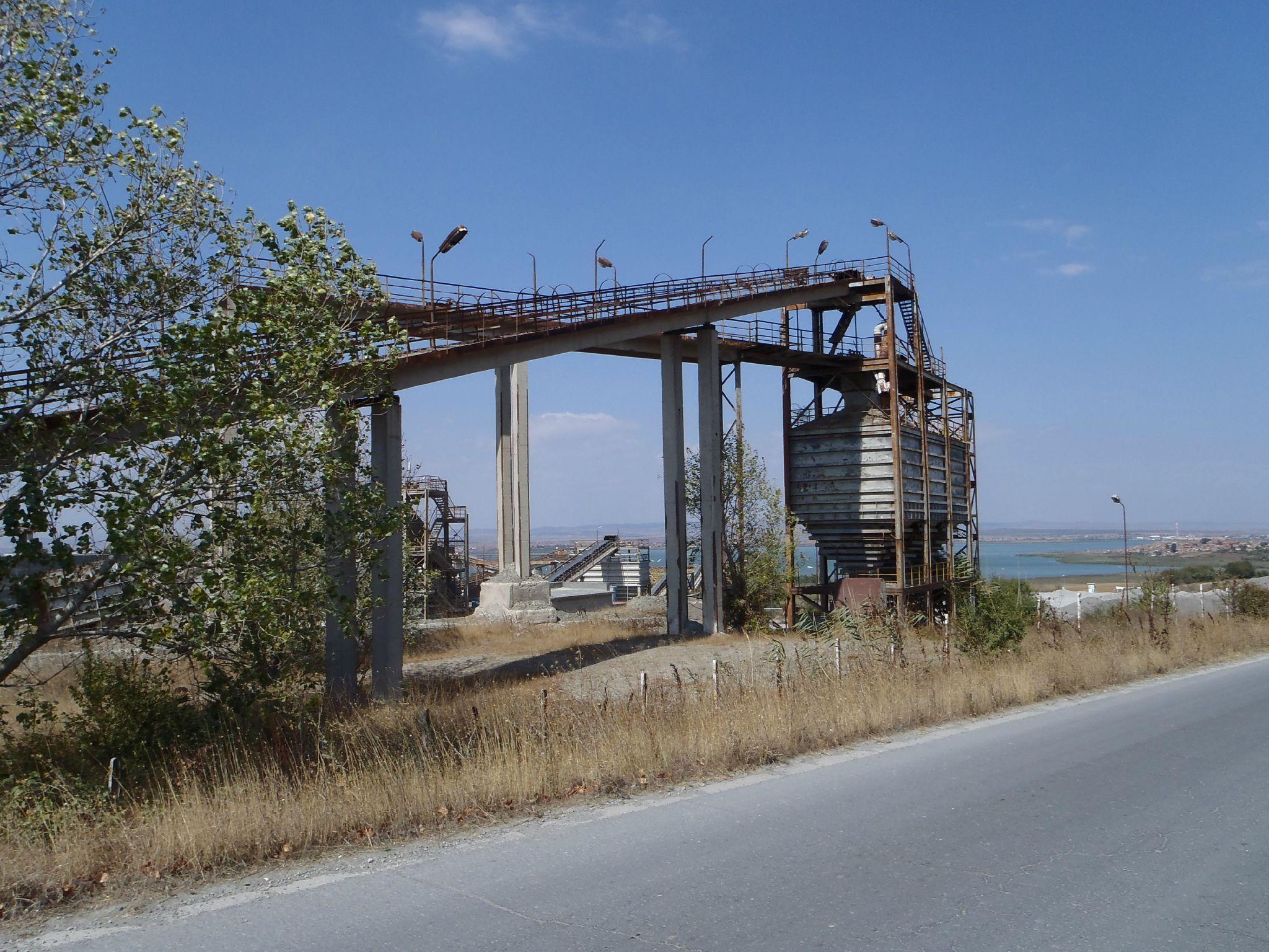 bulgarie - industrialisation au bord de la mer noire