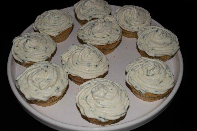 Cupcakes salés au saumon fumé, topping mascarpone-citron