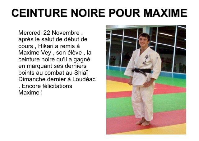 1er Dan pour Maxime Vey