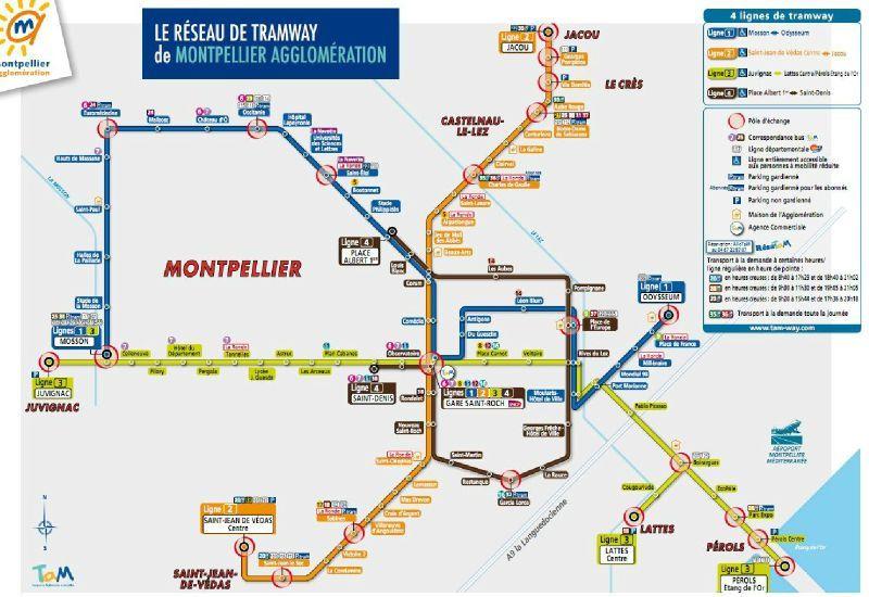 Plan tramway montpelier - Vir transport montpellier ...