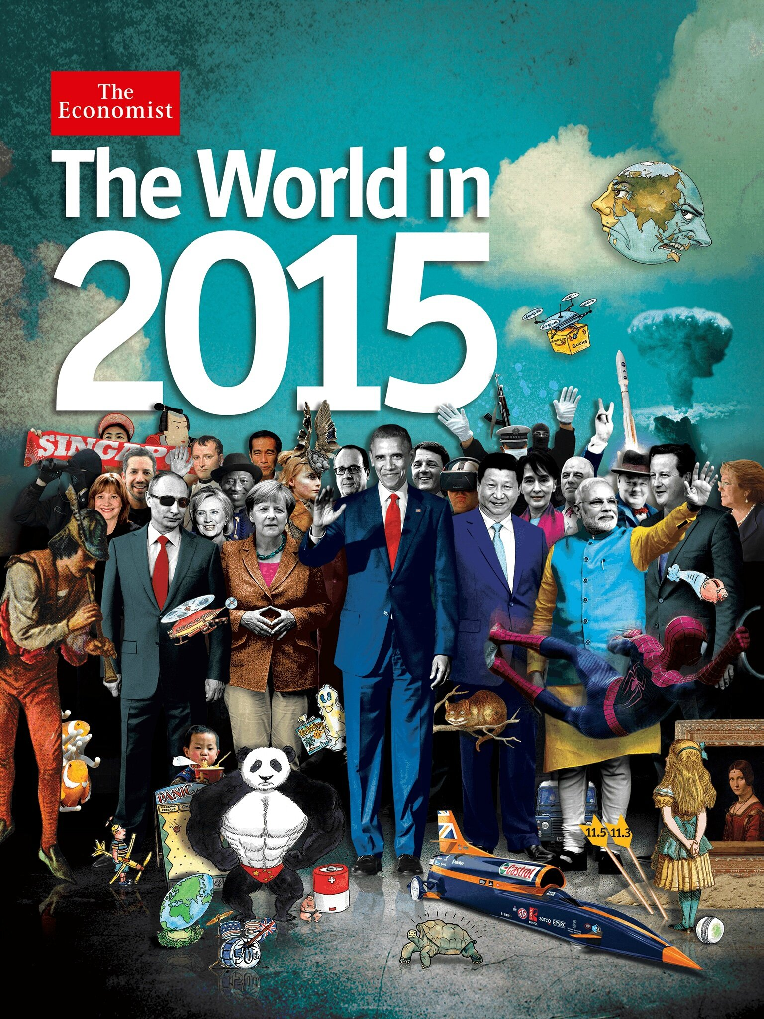 """The World in 2015"" - the Economist, what is announced?"
