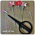 Défi des sc and more n°317 : inspiration végétale,ici ce sera un petit bouquet de fleurs en papier tiré du kit ....