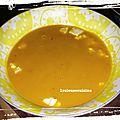 Soupe poires carottes