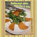 Butternut rtie au romarin roquette & fta