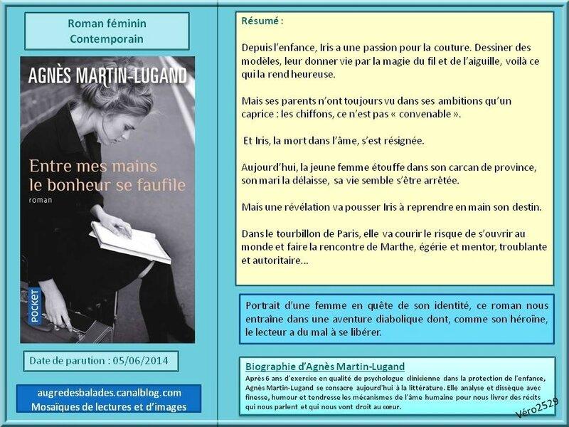 Agnes Martin Lugand entre mes mains