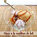 Glace  la confiture de lait