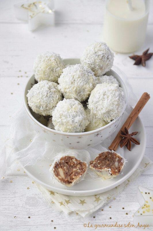 truffes crues façon pain épices noël vegan