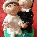 E.4 mariés sur commande d'après photo
