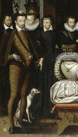 Henri III, Christine de Lorraine et Catherine de Médicis, extrait du Bal à la cour d'Henri III