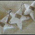 Des étoiles blanches et poétiques.