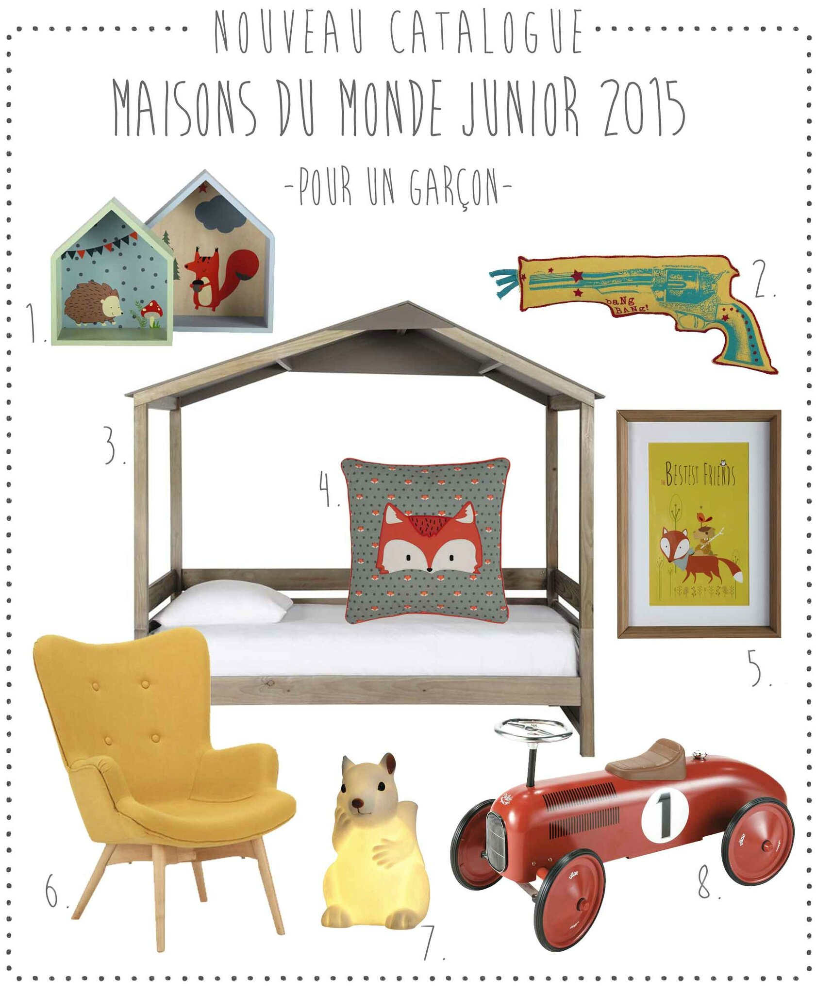 nouveau le catalogue junior maisons du monde 2015. Black Bedroom Furniture Sets. Home Design Ideas