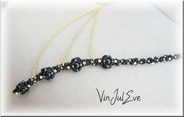 collier Iva noir or2