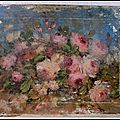 bouquet de fleur fond bleu